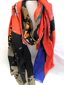 Multi Colored Patterned Scarf
