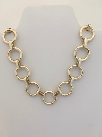 Chunky Gold Circle Necklace