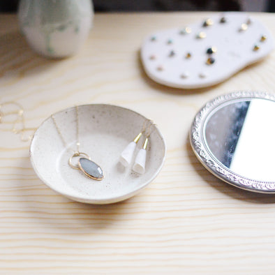 trinket dish to organize your jewelry