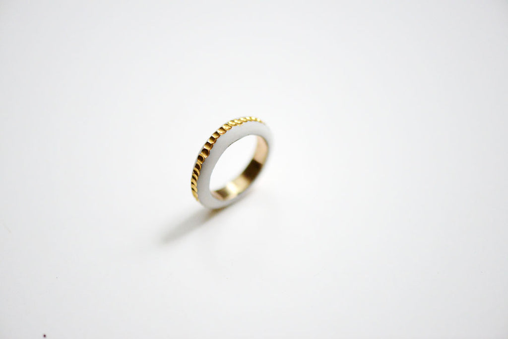 porcelain gold river ring made by Porcelain and Stone