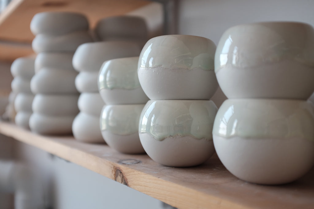 porcelain ceramic candle vessels
