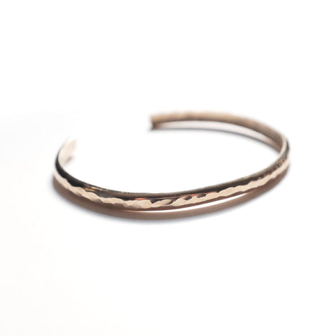14k Gold-Filled Hammered Cuff