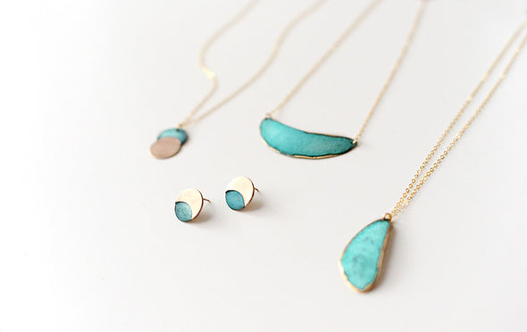 Patina Riverstone Necklace