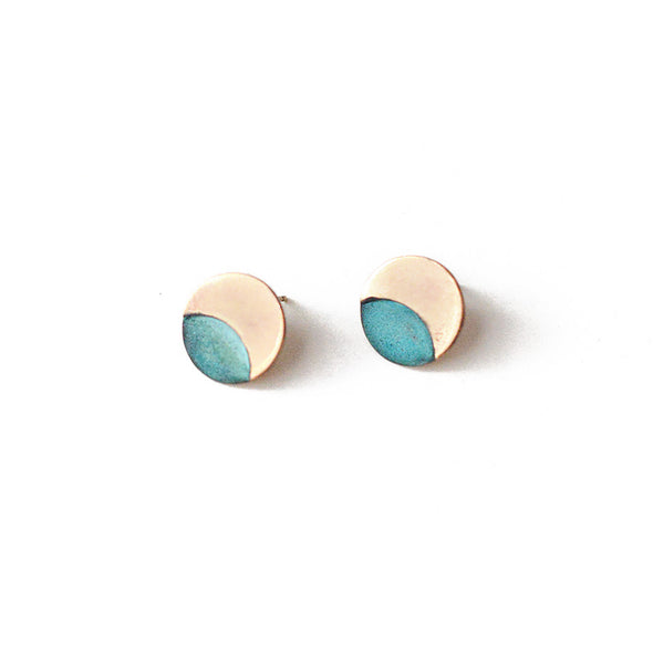 Patina Eclipse Stud Earrings