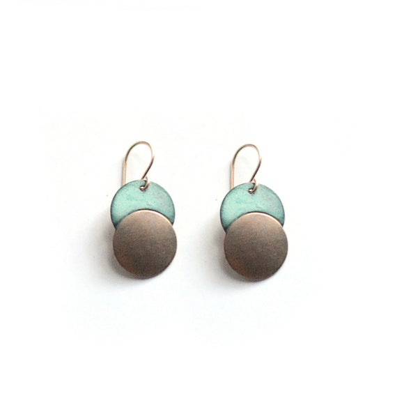 Patina Moonrise Dangle Earrings