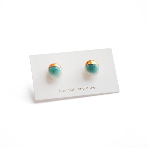 Dipped Pebble Stud Earrings