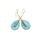 patina earrings, beach jewelry