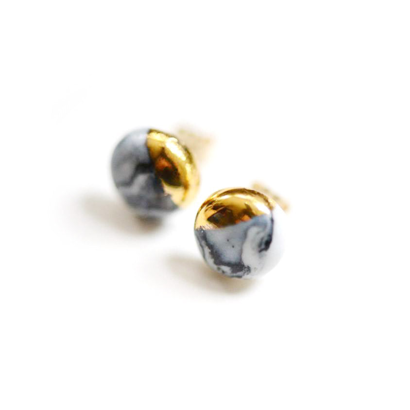 Marble Dipped Studs - Classic