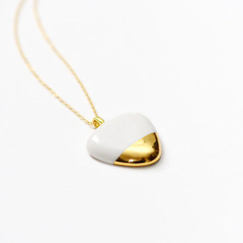 Gold Dipped (Small) Porcelain Pebble
