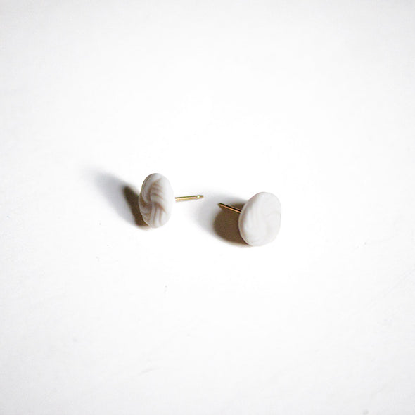 Round Knot Porcelain Stud Earrings