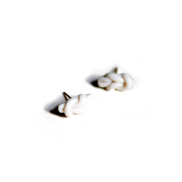 Reef Knot Porcelain Stud Earrings