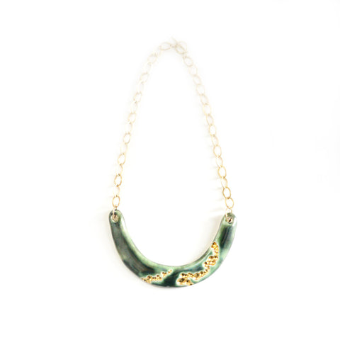 Jaded Crescent Barnacle Necklace