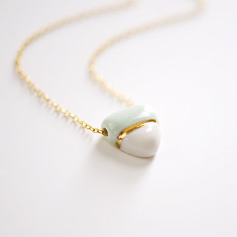 Small Buoy Charm Necklace - Mint Triangle