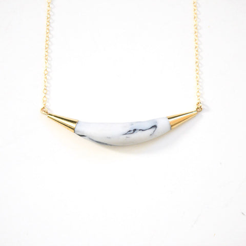 Arc Porcelain Necklace - Marbled Porcelain