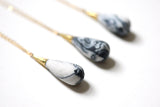 Marbled Porcelain Drop Necklace