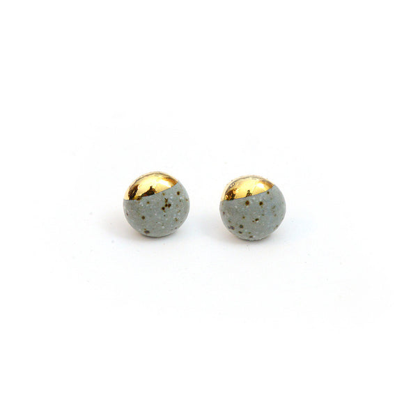 Stone Dipped Studs - Minis, Gold Dipped