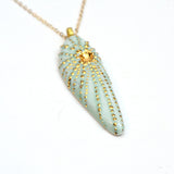 Uni Pendant Drop Necklace - Sea Urchin Statement