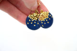 Midnight Kiss Navy Earrings