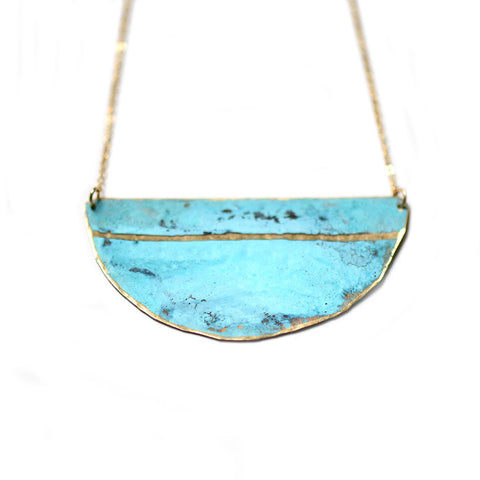 Patina Striped Necklace