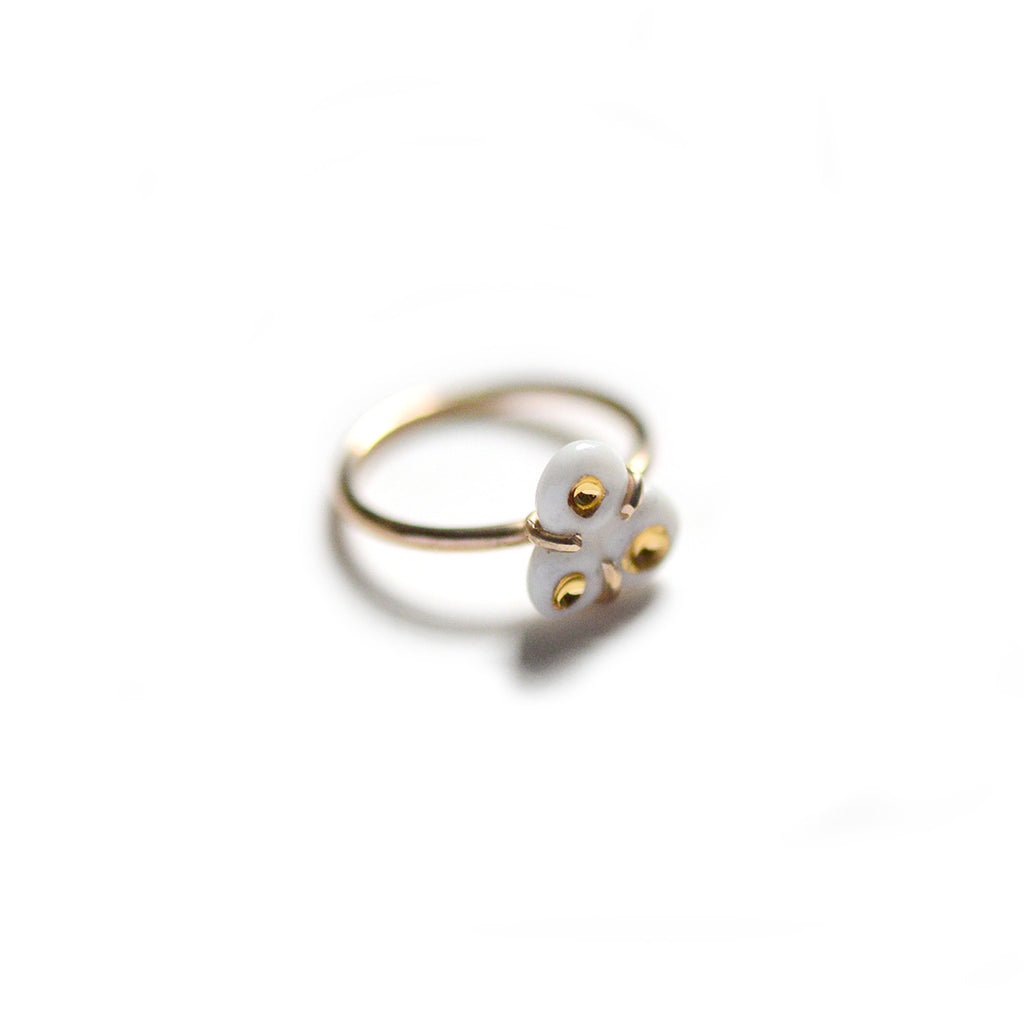 Tri-Barnacle Ring - White