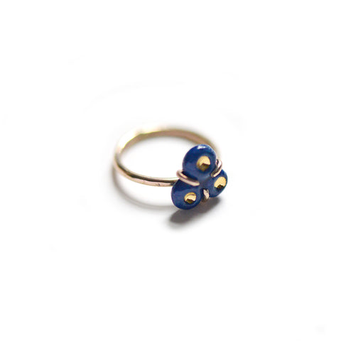 Tri-Barnacle Ring - Navy