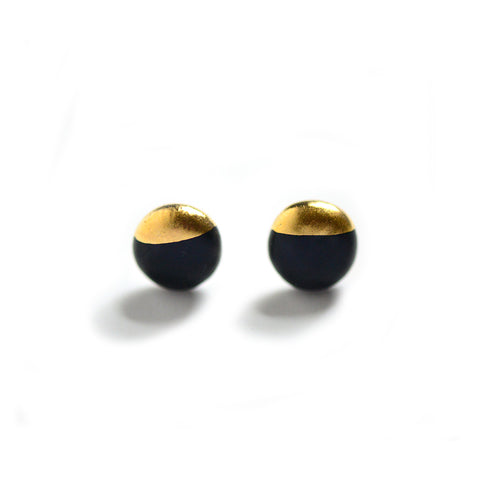 Black Dipped Studs - Matte