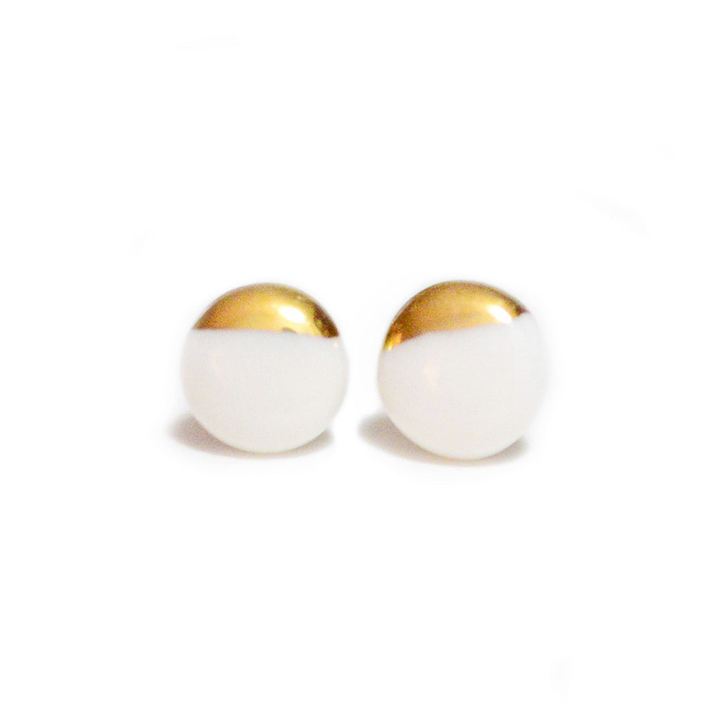 White Dipped Studs