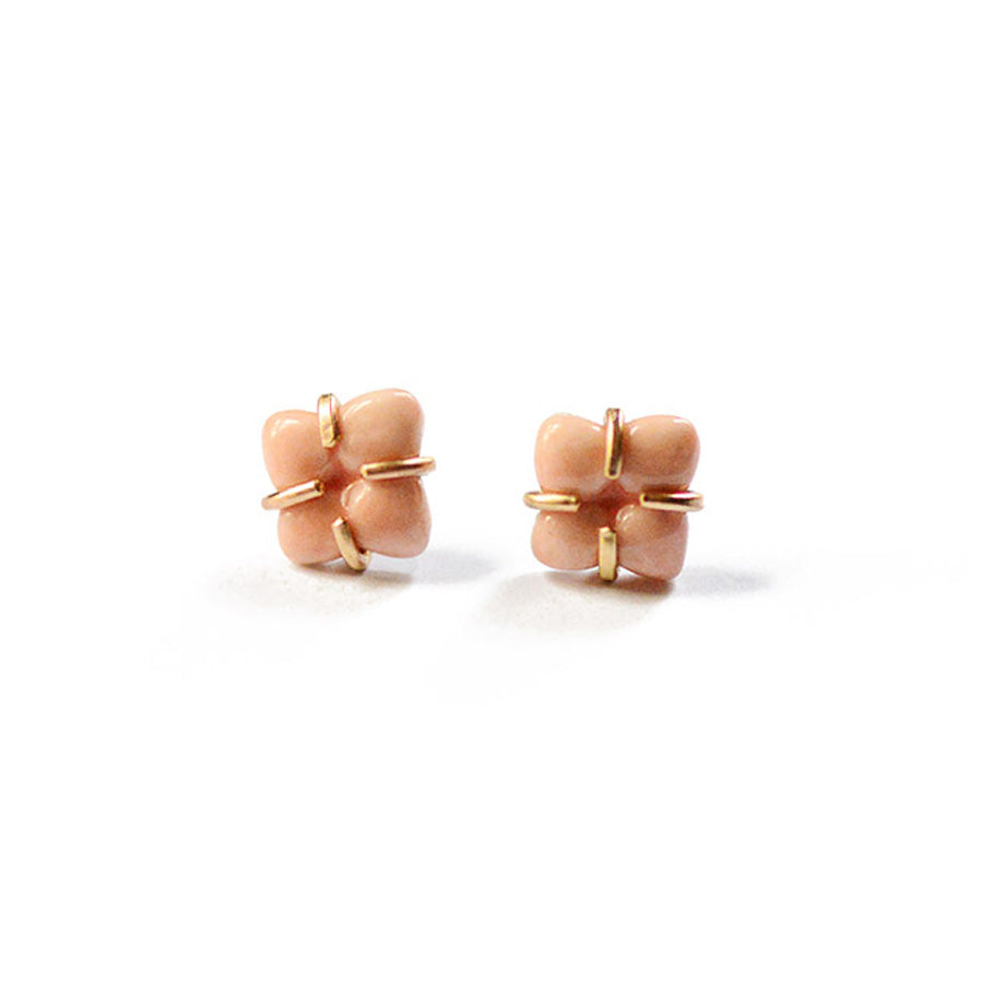 Coral Prong Set Earrings - Heritage Studs