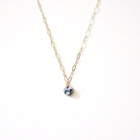 Tiny Porcelain Necklace - Marble