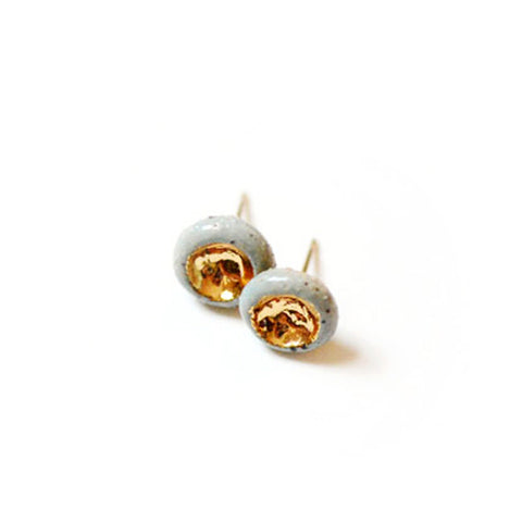 Barnacle Studs - Stoneware Earrings