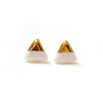 Gold Dipped Pennant Studs