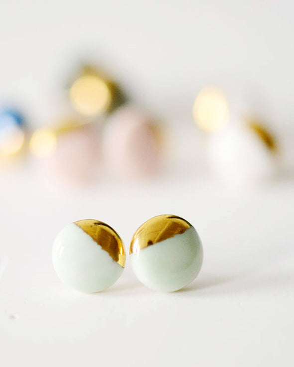 Gold Dipped Stud Earrings