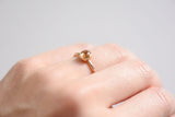 14k Gold Rutilated Quartz Stacking Ring