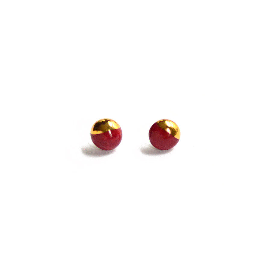 Red Dipped Mini Studs