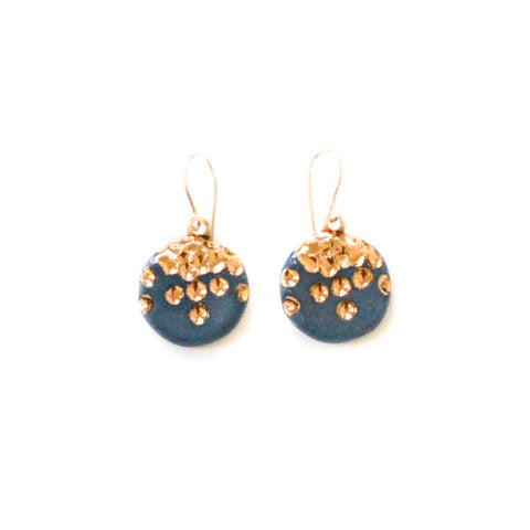 Midnight Kiss Earrings - Navy Minis