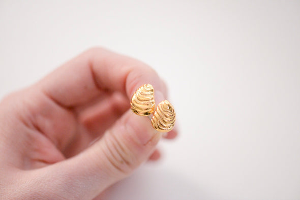 Ocean Shell Studs - Oyster Shell, Mussel Shell Jewelry
