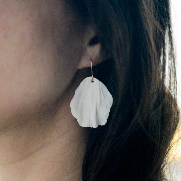 Flower Bloom - Rose Petals - Porcelain Earrings