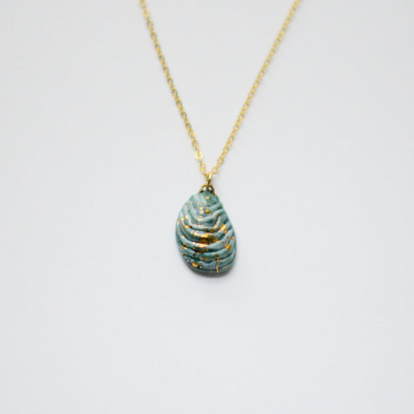 Hudson Blue Shell Necklace - Oyster Shell, Mussel Shell Jewelry