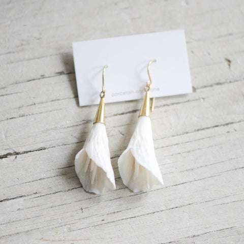 Flower Bloom - Calla Lily Variations - porcelain earrings