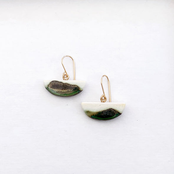 Crescent Water Earrings - 14k Goldfilled posts