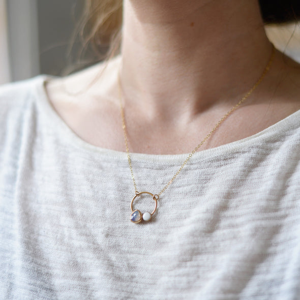 Moonstone Necklace - moonstone jewelry