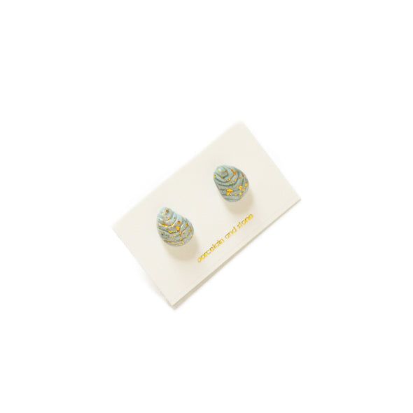 Hudson Blue Ocean Shell Studs - Oyster Shell, Mussel Shell Jewelry