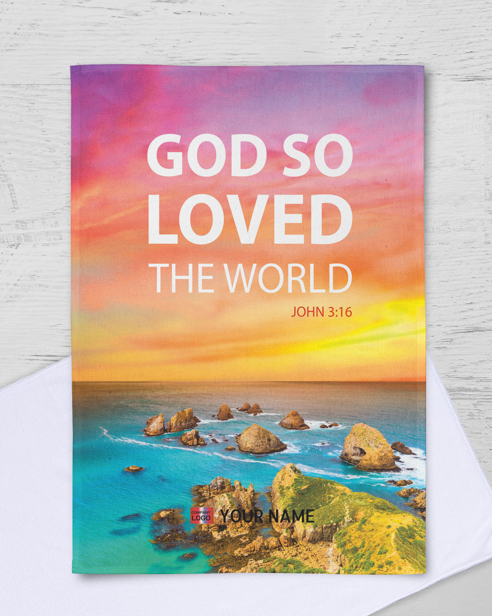 "God So Loved Rally Towel (SIZE 11""X17"")"