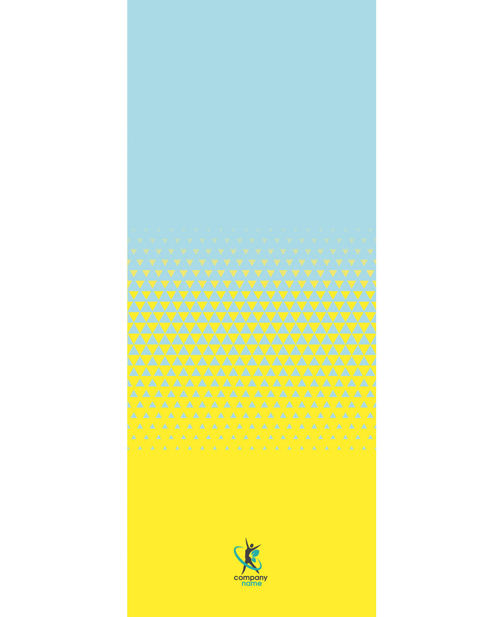 "Yellow Triangle Cooling Towel(SIZE 12""X 31"")"