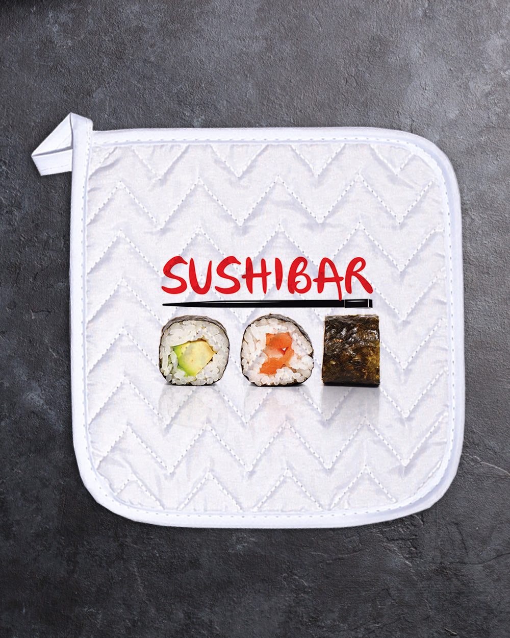"Sushi Pot Holder  (SIZE 8""X 8"")"