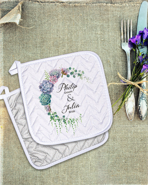 "Wedding Pot Holder  (SIZE 8""X 8"")"