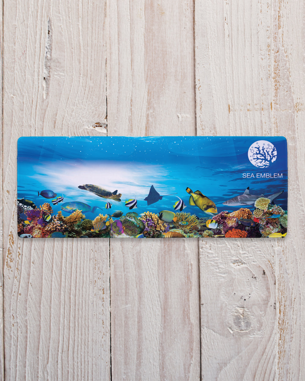 "Ocean Mouse Pad with Nonslip Base (SIZE 12""X 31"")"