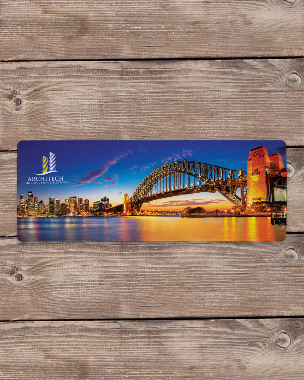 "Bridge Mouse Pad with Nonslip Base (SIZE 12""X 31"")"