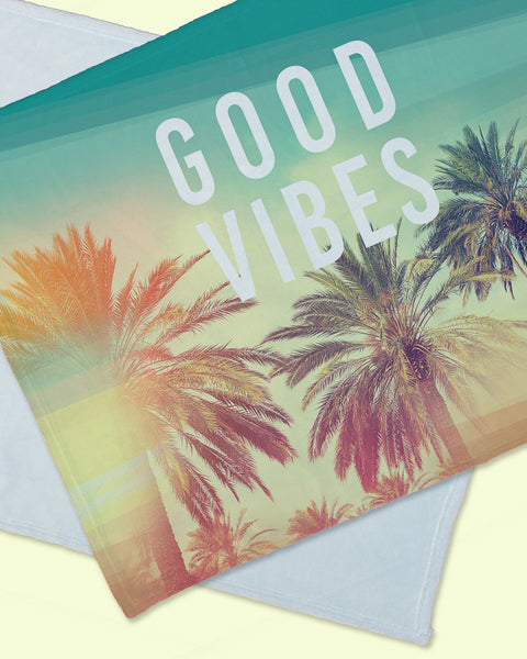 "Good Vibes Minky Blanket Horizontal (SIZE 40""X 30"")"