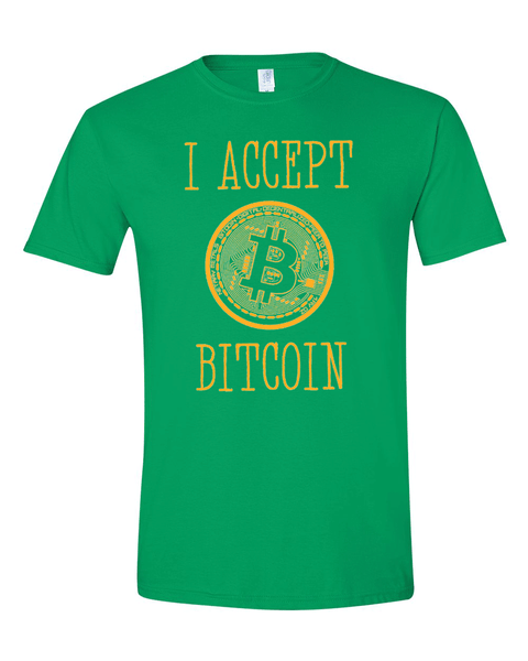 Bitcoin Softstyle T-Shirt G64000,1color Screen Printing, Minimum 30